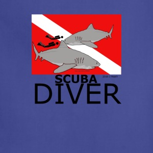 Scuba Divers with Sharks - Adjustable Apron