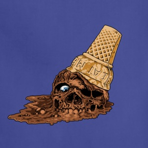 Chocolate Death Cone - Ice Cream Skull - Adjustable Apron