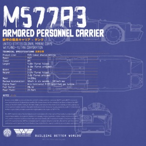 M577A3 Armored Personnel Transport - Adjustable Apron