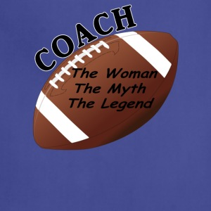 Football Coach The Woman The Myth The Legend - Adjustable Apron