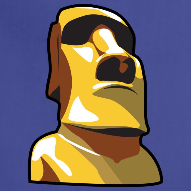 Gold Moai, Easter Island statue covered in gold