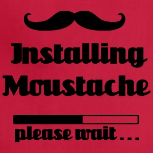 Installing moustache beard, please wait loading - Adjustable Apron