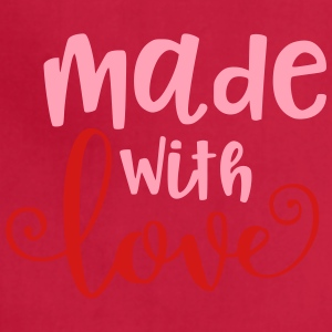 Made With Love Baby Infant Valentine - Adjustable Apron