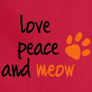 LOVE PEACE AND MEOW - Adjustable Apron