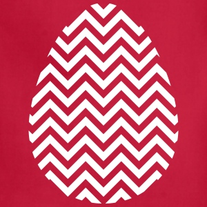 Easter Egg Chevron White - Adjustable Apron