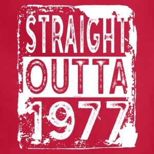 Funny 40th Birthday Gift: Straight Outta 1977 Tee - Adjustable Apron