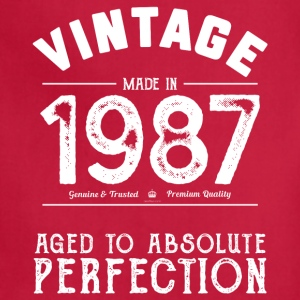 1987 Aged To Perfection 30th Birthday Present - Adjustable Apron