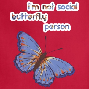 I'am not social butterfly person - Adjustable Apron