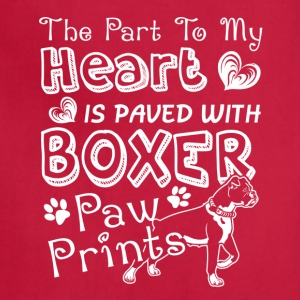 Boxer Paw Shirt - Adjustable Apron