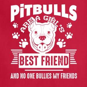 Pitbull Best Friend T-shirt - Adjustable Apron