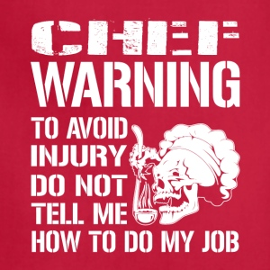 Chef Warning Job - Adjustable Apron