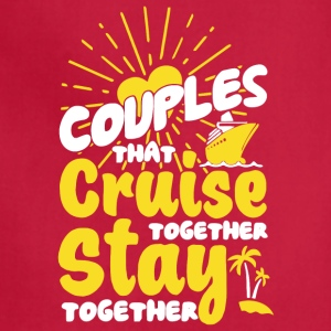Couples Cruise Together T Shirt - Adjustable Apron