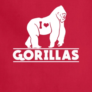 I Love Gorillas Tee Shirt - Adjustable Apron