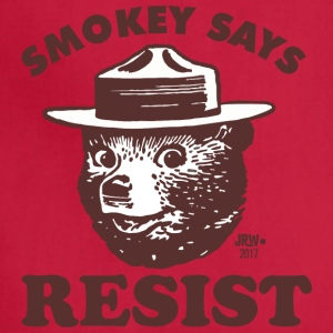 [LIMITED EDITION] Smokey Says Resist - Adjustable Apron