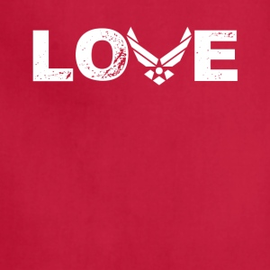 Love US Air Force Tee Shirt - Adjustable Apron