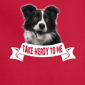 Border Collie Talk Herdy To Me Tee Shirt - Adjustable Apron