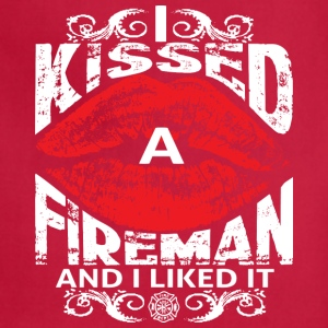 I Kissed Fireman - Adjustable Apron