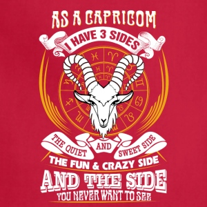 AS a capricorn I have 3 sides - Adjustable Apron