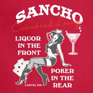 Sancho casino and lounge Liquor in the front - Adjustable Apron