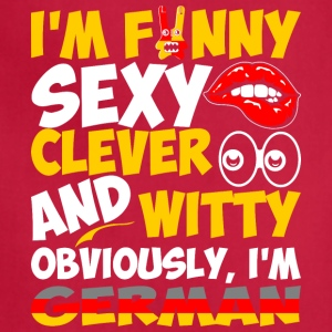 Im Funny Sexy Clever And Witty Im German - Adjustable Apron