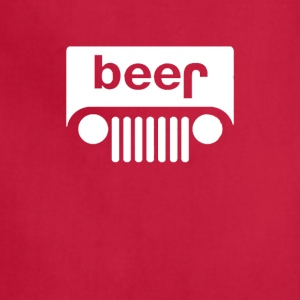 Beerjeep Offroading Funny T-shirt - Adjustable Apron
