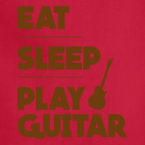 Eat Sleep Play Guitar Funny Tee Shirt - Adjustable Apron