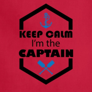 Keep Calm I'm The Captain Tee Shirt - Adjustable Apron