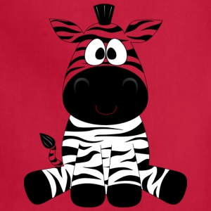 Funny Zebra Comic Style Smiling Animal - Adjustable Apron