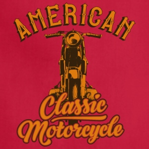 American classic motorcycle inscription cool art - Adjustable Apron