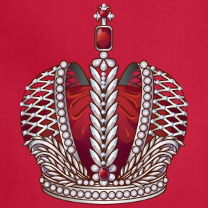 Royal gold silver crown jewels cool art - Adjustable Apron