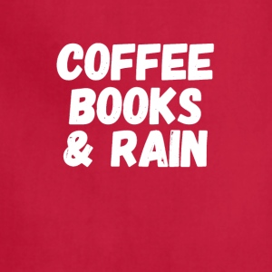 coffee books & rain - Adjustable Apron