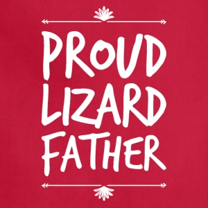 proud lizard father - Adjustable Apron