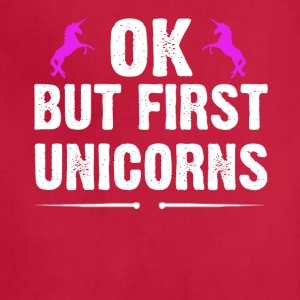 OK But First Unicorns - Adjustable Apron