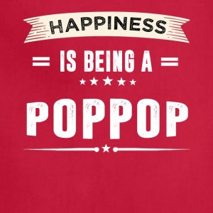 Happiness Is Being a POPPOP - Adjustable Apron
