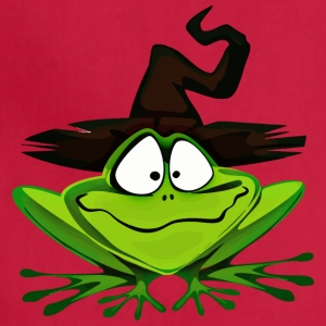 Frog Wearing Witchs Hat 2400px - Adjustable Apron
