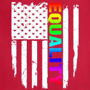 lGBT FLAG Equality T-Shirt - Adjustable Apron
