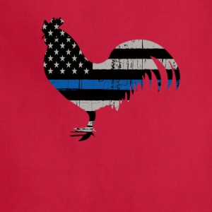 Patriotic American Flag Chicken T-Shirt - Adjustable Apron