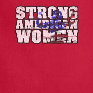 Womens Patriotic 4th Of July Strong American Women - Adjustable Apron