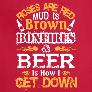Bonfires And Beer T Shirt - Adjustable Apron
