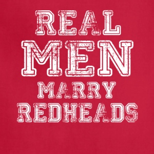 Real Men Marry Redheads - Adjustable Apron