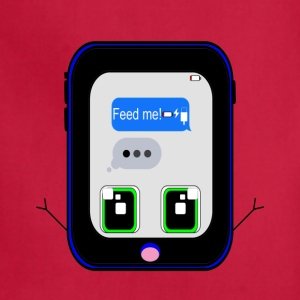 iPhone Feed Me (blue) - Adjustable Apron
