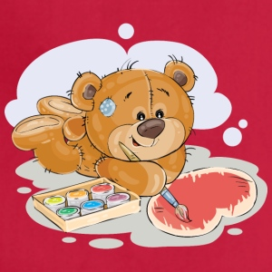 paint brush artist teddy bear - Adjustable Apron