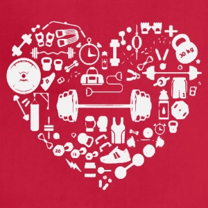 Weight Training Heart Tee Shirt - Adjustable Apron