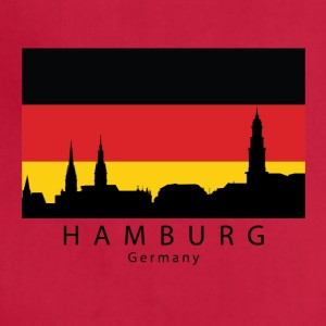 Hamburg Germany Skyline German Flag - Adjustable Apron