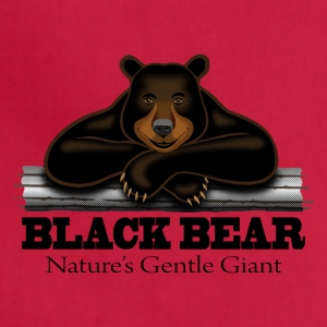 Black Bear: Nature's Gentle Giant - Adjustable Apron