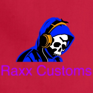 SKULL RAXX CUSTOMS logo blue - Adjustable Apron