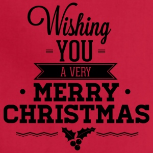 Wishing you a very merry christmas - Adjustable Apron