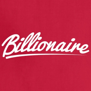 Billionaire - Underlined Design (White Letters) - Adjustable Apron