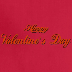 happy-valentines day-inscription - Adjustable Apron