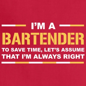 I'm A Bartender T Shirt - Adjustable Apron